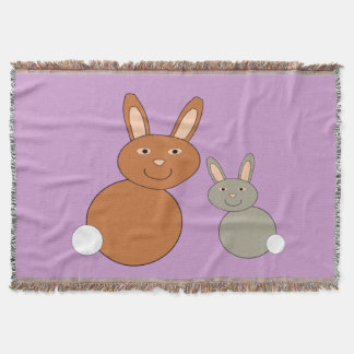 Mothers Day Bunnies Throw Blanket