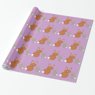 Mothers Day Bunnies Wrapping Paper