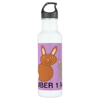 Mothers Day Bunny Custom Number 1 Mom 710 Ml Water Bottle
