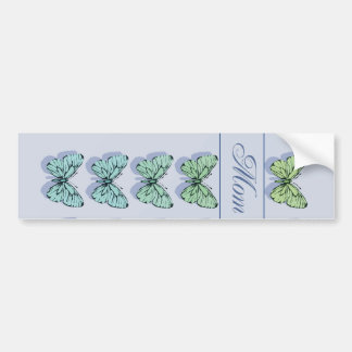 Mother's Day Butterfly Flying Bumper Sticker
