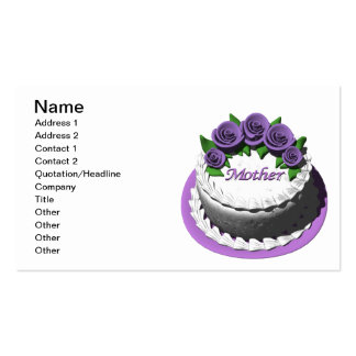 Mothers Day Cake Double-Sided Standard Business Cards (Pack Of 100)