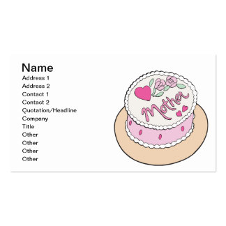 Mothers Day Cake Business Card Templates