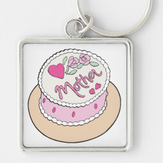 Mothers Day Cake Key Chain
