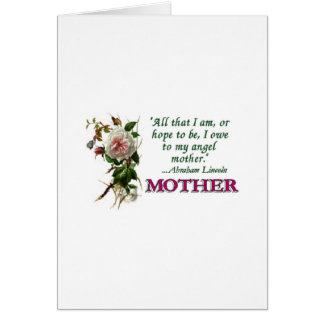 Mother's Day Card  Antique Rose