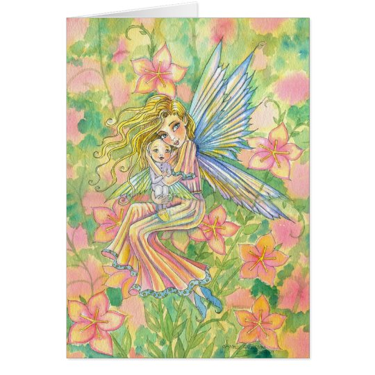 Mother's Day Card Fairy Mama and Baby