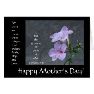 Mother's Day Card, floral, bible verse about love Card