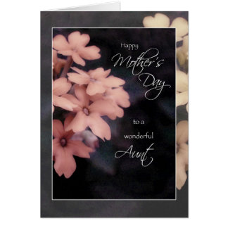 Mother's Day Card for Aunt, Peach Garden Phlox