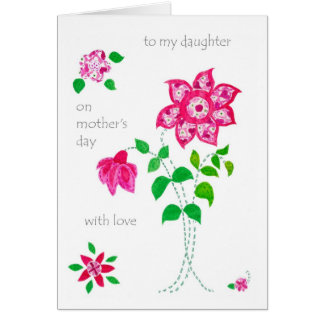 Mother's Day Card for Daughter - Pink Flowers