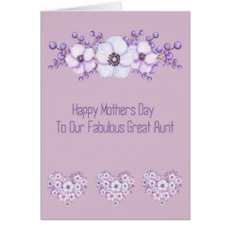 Mother's Day Card for Fabulous Great Aunt