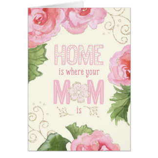 Mother's Day Card - Home Is Where Your Mum Is