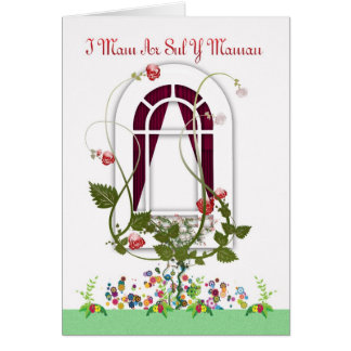 Mother's Day Card - Mam Welsh Language