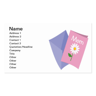 Mothers Day Card Pack Of Standard Business Cards