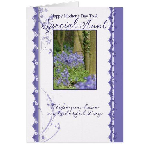 Mother's Day Card, Special Aunt