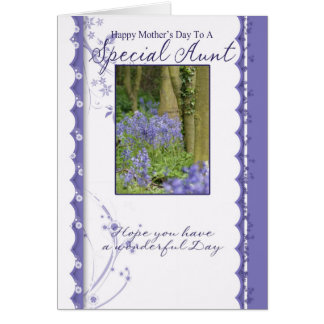 Mother's Day Card, Special Aunt Greeting Card