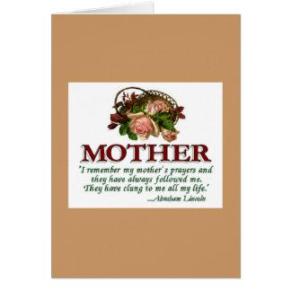 Mother's Day Card Vintage Rose Basket