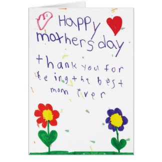 Mother's Day Card With Kids Art