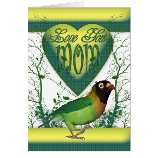 Mother's day card with Love Bird
