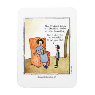 MOTHER'S DAY cartoon by Ellen Elliott Rectangular Photo Magnet