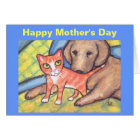 Mother's Day Cat & Dog Greeting Card