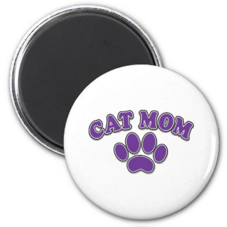 Mother's Day Cat Mom 6 Cm Round Magnet