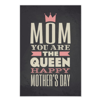 Mother's Day Chalkboard Style Text Design Print