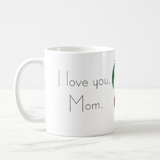 Mother's Day cherry and cherry pit characters Basic White Mug