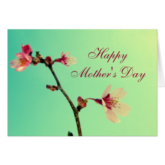 Mother's Day Cherry Blossom Greeting Card