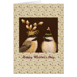 Mother's Day chickadee card