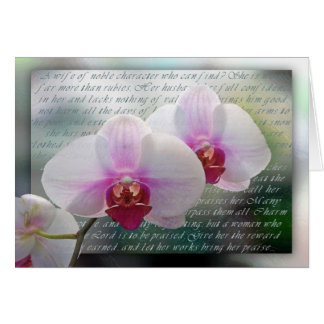 Mother's Day Christian Orchids Card