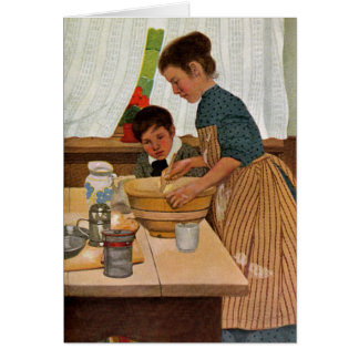 Mothers Day Cooking with Mom Greeting Card