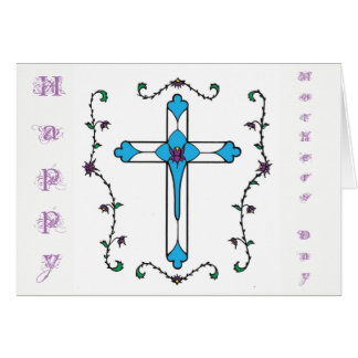 Mothers Day cross Card