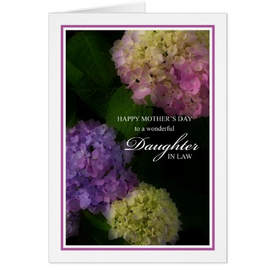 Mother's Day Daughter In Law, Painted Hydrangea Card