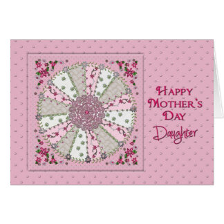 MOTHER'S DAY - DAUGHTER - PRETTY IN PINK GREETING CARD