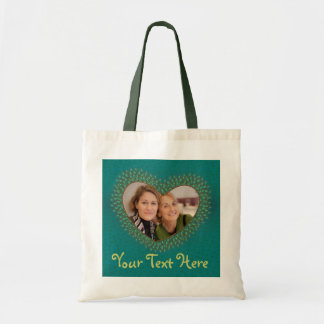 Mother's day decorated heart photo frame bags