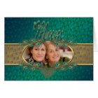 Mother's Day elegant peacock feathers photo cards