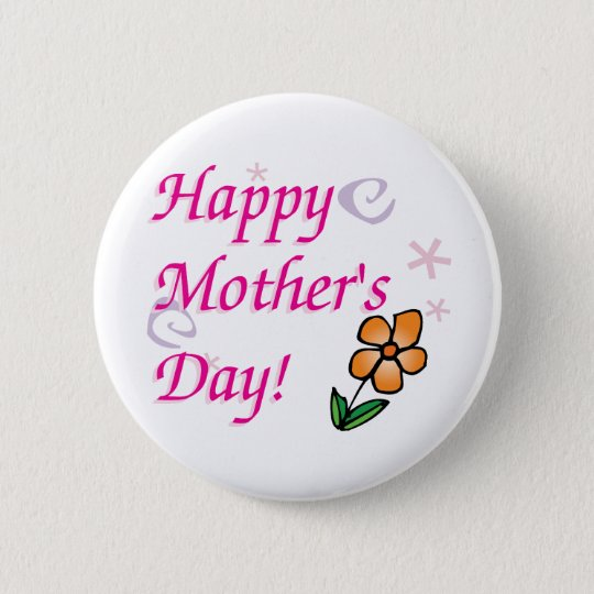 Mothers Day Flower 6 Cm Round Badge