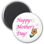 Mothers Day Flower 6 Cm Round Magnet