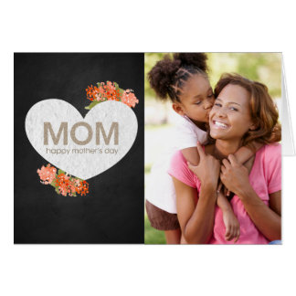 Mother's Day Flower Heart Card
