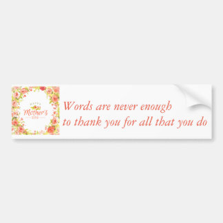 Mother's day flowers bumper sticker