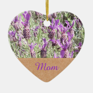 Mothers Day French Lavender Mom Christmas Ornament