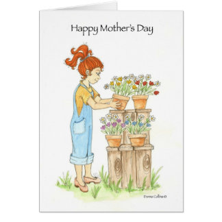 Mother's Day Garden Pots Cards