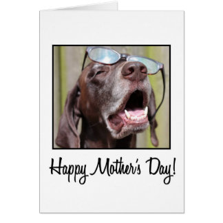 mother's day german pointer greeting card