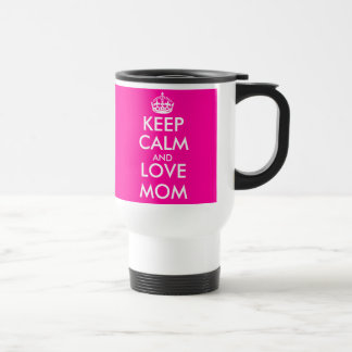 Mother's Day Gift Idea | Pink Keep Calm Travel Mug