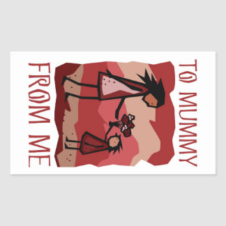 Mother's Day gift: Love and flowers for Mummy Rectangular Sticker