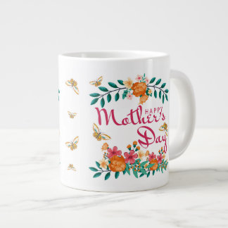 Mother's Day Gift Mug Floral And Butterfly