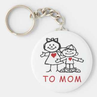 mother's day gifts basic round button key ring