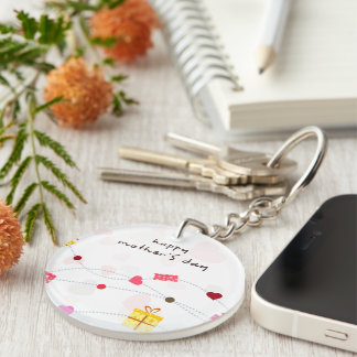 Mother's Day Gifts Double-Sided Round Acrylic Keychain