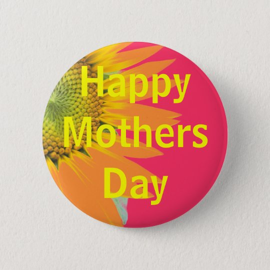 Mothers Day greeting 6 Cm Round Badge
