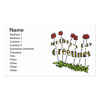 Mothers Day Greetings Business Cards