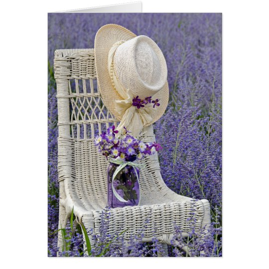 Mother's Day-hat hanging on chair Card